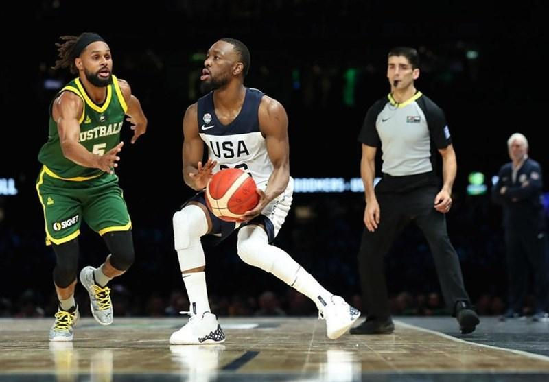 دیدار محبت آمیز بسکتبال، استرالیا بر آمریکا غلبه کرد