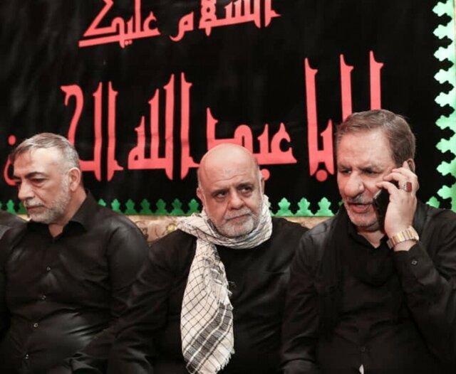 مکالمه تلفنی معاون اول رئیس جمهور با رئیس جمهور عراق