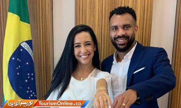 شاکی برزیلی استقلال ازدواج کرد، عکس