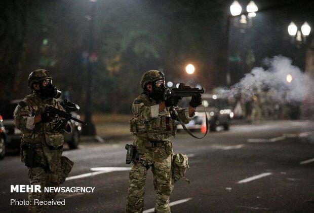 پلیس آمریکا در پورتلند شرایط شورش گفت
