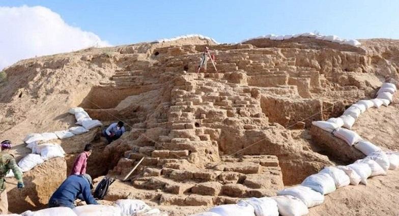 بقایای دژ تاریخی مربوط به دوره هخامنشی در محوطه ریوی خراسان شمالی کشف شد