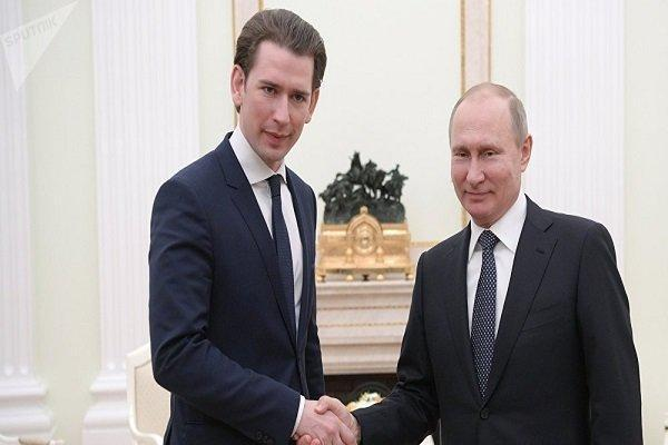 رییس جمهور روسیه و صدراعظم اتریش تبادل نظر کردند